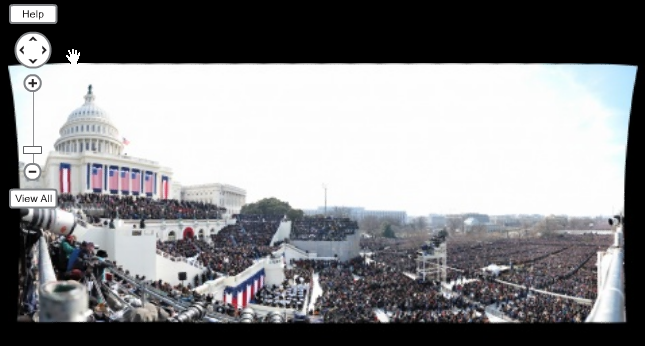 Gigapixel view of inauguration